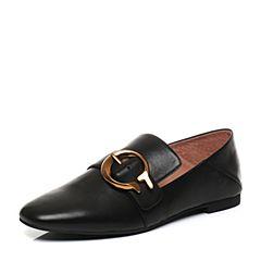 STACCATO/思加图秋季专柜同款黑色漆皮打蜡牛皮女皮鞋9D905CM7
