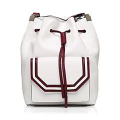 STACCATO/思加图2017年秋季专柜同款白色人造革单肩女皮包X1695CN7
