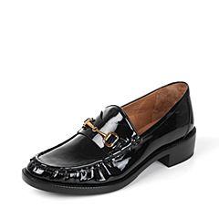STACCATO/思加图秋季黑色牛皮休闲女皮鞋9RA95CM7
