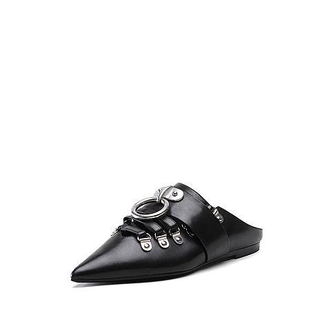 STACCATO X MASHAMA跨界系列2018年春季金属扣尖头穆勒鞋9L708AH8