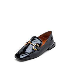 STACCATO/思加图2018秋专柜同款漆牛皮方跟一脚蹬女单鞋9K920CM8