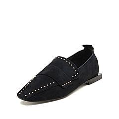 STACCATO/思加图秋专柜同款羊绒时尚方跟女单鞋G1201CM8