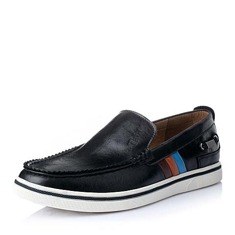 Tata/他她秋季黑色时尚休闲舒适牛皮男皮鞋A8902CM5