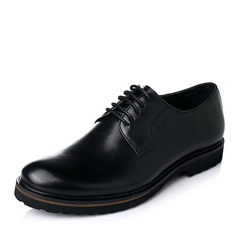 Tata/他她秋季黑色牛皮商务正装男单鞋A7221CM5