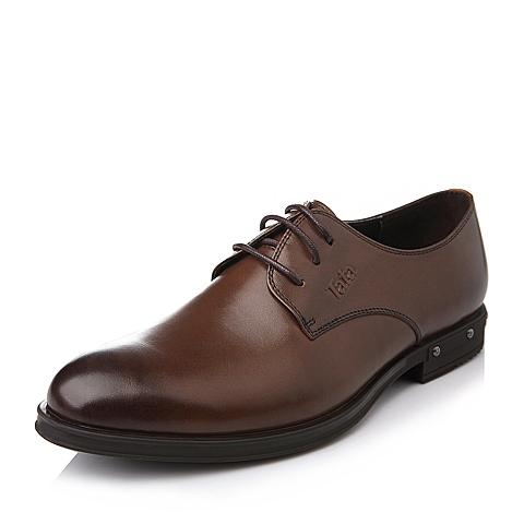 Tata/他她秋季棕色时尚商务系列牛皮男皮鞋H2310CM5