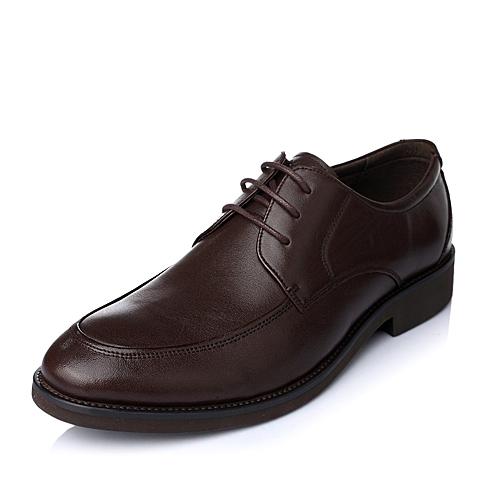 Tata/他她秋季棕色牛皮时尚都市商务精英男皮鞋D8716CM5