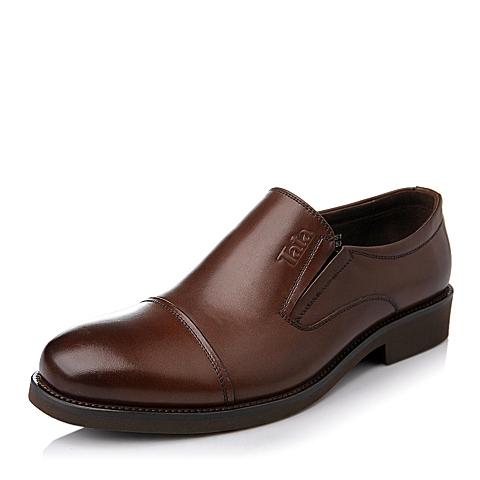 Tata/他她秋季棕色牛皮商务男皮鞋DB906CM5
