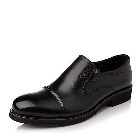 Tata/他她秋季黑色牛皮商务男皮鞋DB906CM5