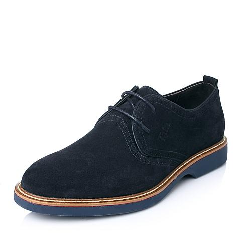 Tata/他她年秋季蓝色牛皮舒适休闲男单鞋Q1201CM5