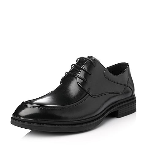Tata/他她冬季黑色牛皮男单鞋W8613DM5