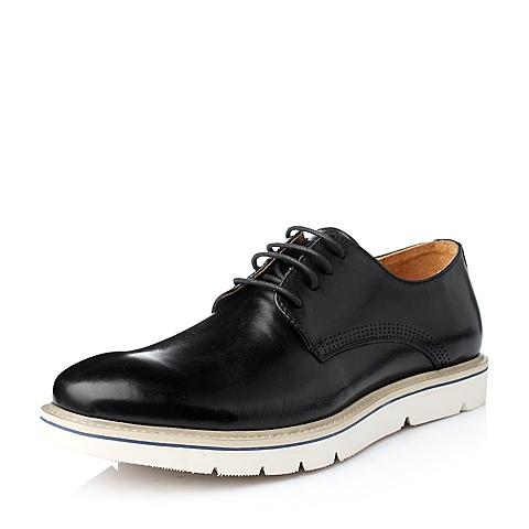Tata/他她冬季黑色牛皮男单鞋F5220DM5