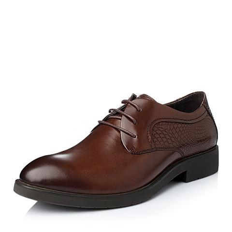 Tata/他她冬季棕色牛皮男单鞋FA890DM5