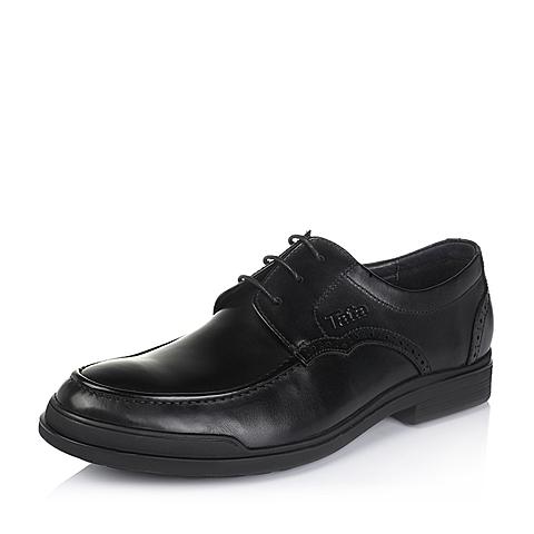 Tata/他她秋季专柜同款黑色牛皮男休闲鞋VV374CM5