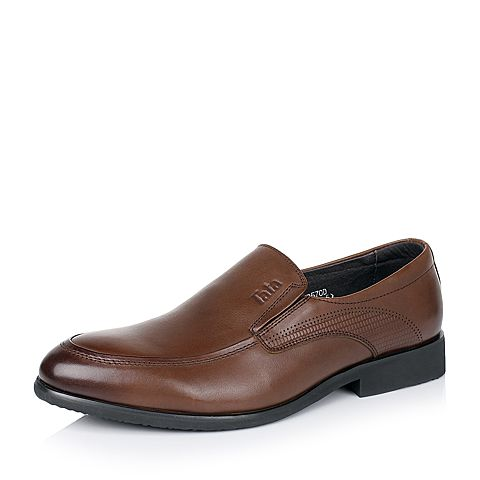 Tata/他她秋季专柜同款棕色牛皮男单鞋V357DCM5