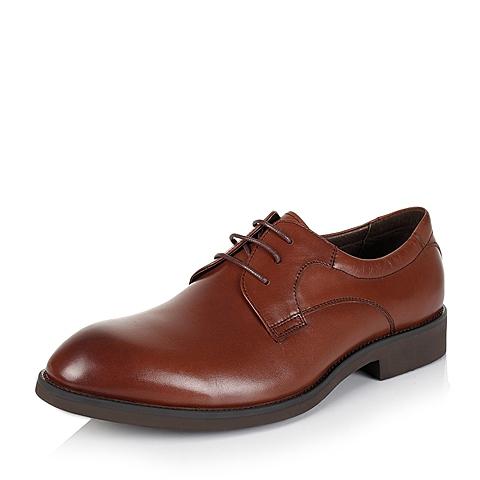 Tata/他她秋季专柜同款棕色牛皮男单鞋DV360CM5