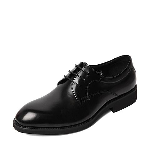 Tata/他她秋季专柜同款黑色牛皮男单鞋DV360CM5 专柜1