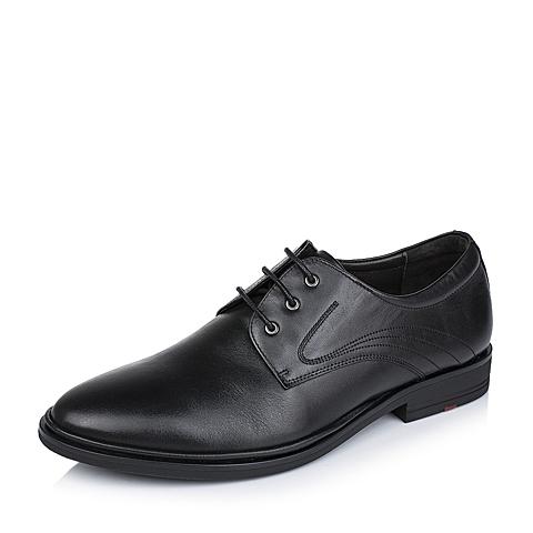Tata/他她秋季专柜同款黑色牛皮男单鞋V3575CM5