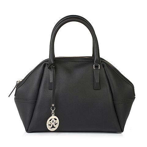 Tata/他她冬季专柜同款黑色牛剖层革时尚女包1534LDX5