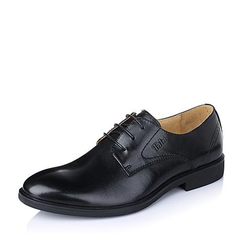 Tata/他她春季黑色时尚商务休闲牛皮革男单鞋S3080AM6