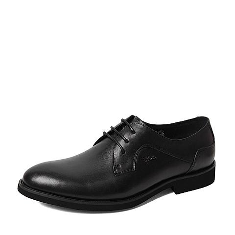 Tata/他她春季专柜同款黑色牛皮革男鞋U157DAM6 专柜1