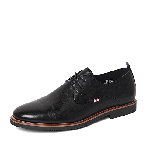 Tata/他她春季专柜同款黑色胎水牛皮革男鞋U153DAM6 专柜1