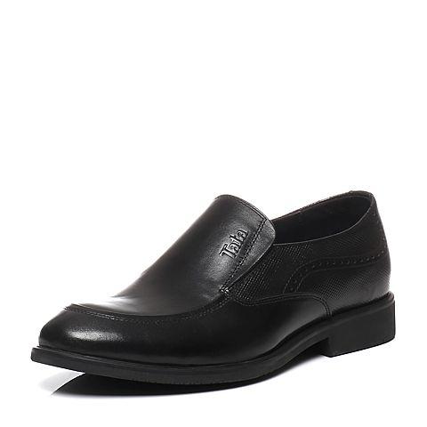 Tata/他她2016春季专柜同款黑色牛皮革男鞋U1521AM6 专柜1