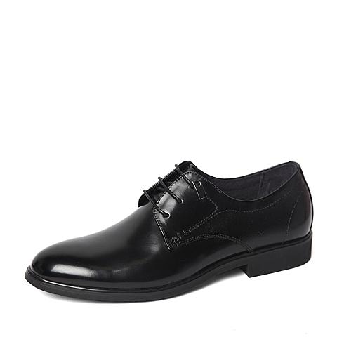 Tata/他她2016春季专柜同款黑色牛皮革男鞋U1621AM6 专柜1