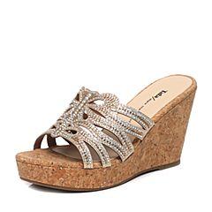 Tata/他她夏季专柜同款金色浅黄钻女鞋2A2A1BT6