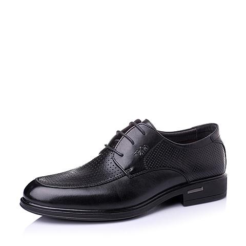 Tata/他她夏季黑色牛皮革男单鞋11809BM6
