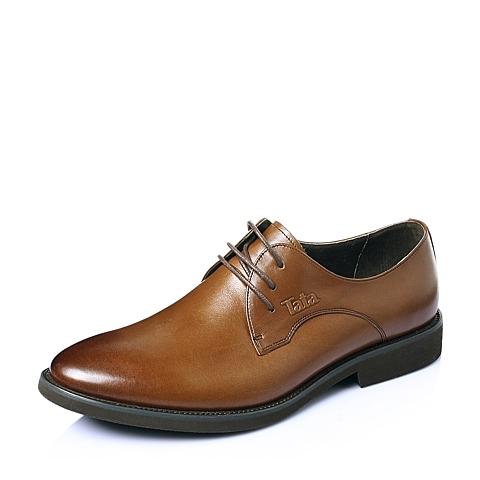 Tata/他她夏季棕牛皮时尚舒适商务儒雅绅士男皮鞋H1012BM6