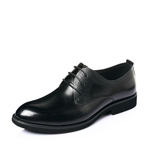 Tata/他她夏季黑牛皮时尚商务儒雅绅士男皮鞋H2056BM6