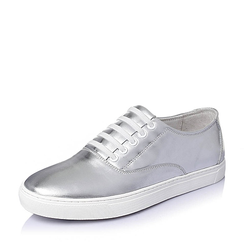 Tata/他她2016夏季银色牛皮时尚休闲男单鞋B1232BM6