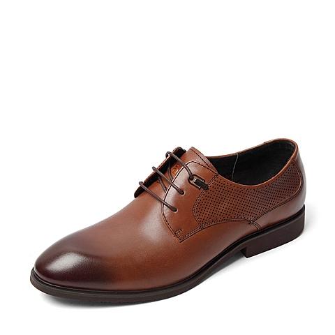 Tata/他她2016夏季专柜同款棕色牛皮男鞋U258DBM6 专柜1
