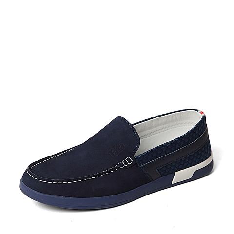 Tata/他她2016年夏季专柜同款蓝色时尚男单鞋U254DBM6