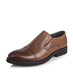 Tata/他她2016秋季棕色牛皮男单鞋DH122CM6