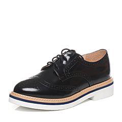 Tata/他她春季专柜同款黑色光牛皮女皮鞋2I2C4AM7