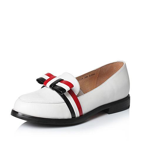 Tata/他她2017年春季白色时尚女皮鞋2I216AQ7