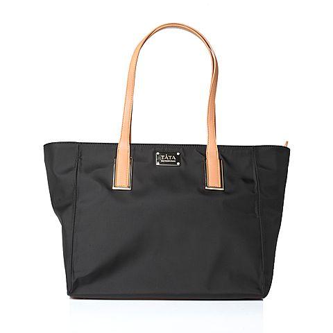Tata/他她2017年春季黑棕色时尚手袋X1800AX7