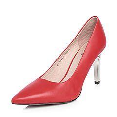 Tata/他她2018春专柜同款红色牛皮尖头细高跟浅口女鞋S1203AQ8