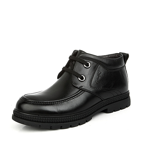 Teenmix/天美意黑色牛皮A3890DD4男皮靴冬季