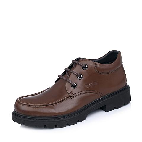 Teenmix/天美意棕色牛皮B9981DD4男皮靴冬季