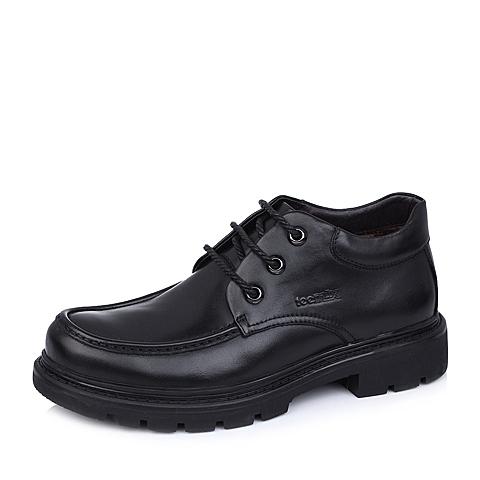 Teenmix/天美意黑色牛皮B9981DD4男皮靴冬季
