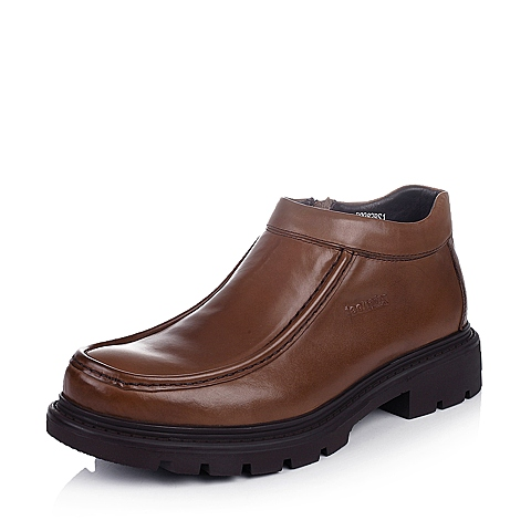 Teenmix/天美意棕色牛皮B9982DD4男皮靴冬季