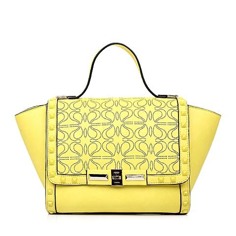 Teenmix/天美意春季黄色人造革手袋X0826AX5