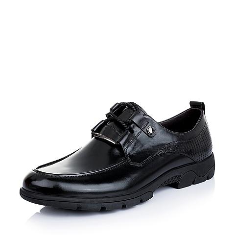 Teenmix/天美意春季黑色小牛皮男单鞋A8697AM5