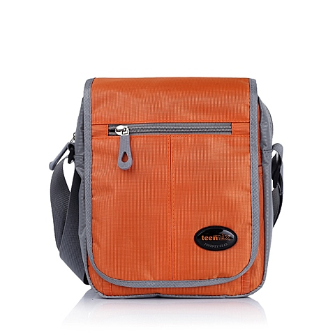 Teenmix/天美意2015年夏季桔色化纤布女包欧美时尚包包1699DBX5
