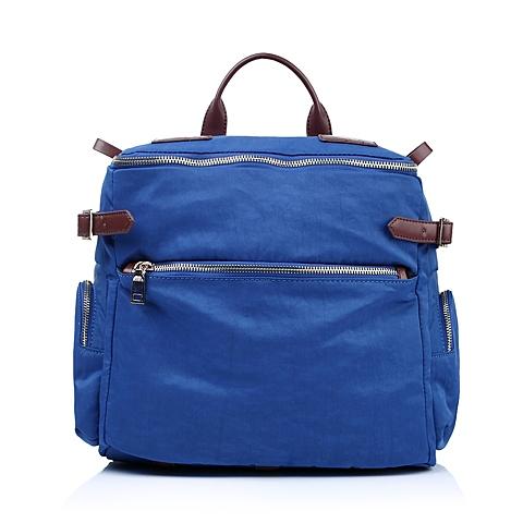Teenmix/天美意年夏季蓝色化纤布/牛皮革女包5B044BX5