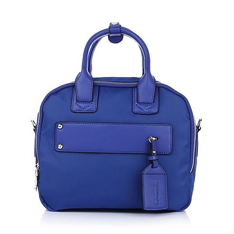 Teenmix/天美意夏季蓝色织物/人造革女包时尚活力手提包11157BX5