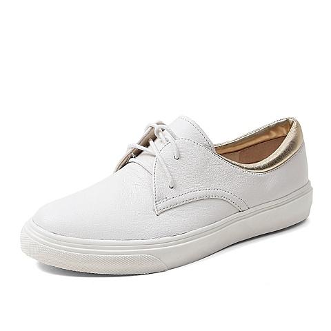 Teenmix/天美意秋季专柜同款牛皮/羊皮女单鞋6SD26CM5