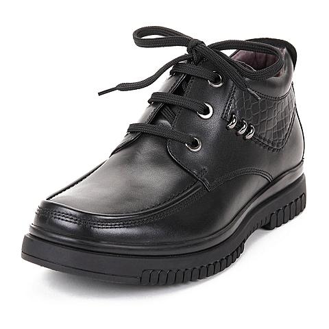 Teenmix/天美意冬专柜同款油蜡牛皮男休闲鞋90525DD5